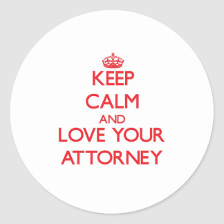 Keep Calm and Love your Attorney Sticker