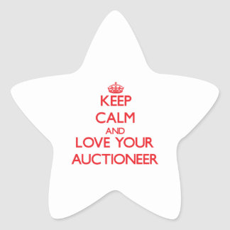 Keep Calm and Love your Auctioneer Star Sticker