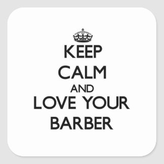 Barber Love : Keep Calm and Love your Barber Sticker