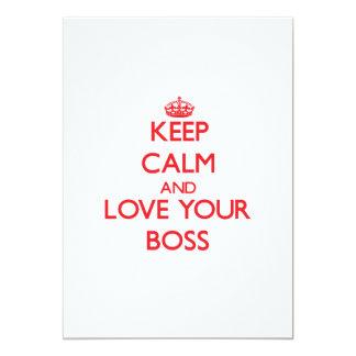 Keep Calm and Love your Boss Custom Invitation