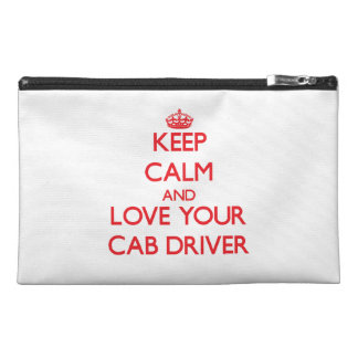 Keep Calm and Love your Cab Driver Travel Accessory Bags