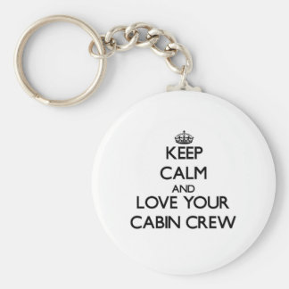 Keep Calm and Love your Cabin Crew Key Ring
