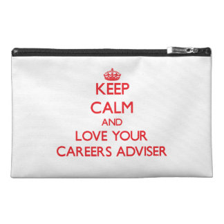 Keep Calm and Love your Careers Adviser Travel Accessory Bags