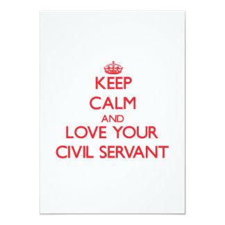 "Keep Calm and Love your Civil Servant 5"" X 7"" Invitation Card"