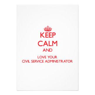Keep Calm and Love your Civil Service Administrato Custom Invites