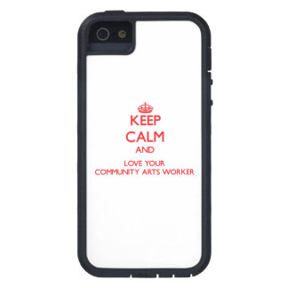 Keep Calm and Love your Community Arts Worker iPhone 5 Cover