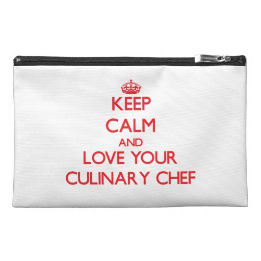 Keep Calm and Love your Culinary Chef Travel Accessories Bag