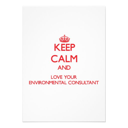 Keep Calm and Love your Environmental Consultant Custom Invitations