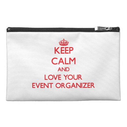 Keep Calm and Love your Event Organizer Travel Accessories Bag