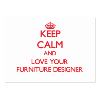 Keep Calm and Love your Furniture Designer Business Card Templates