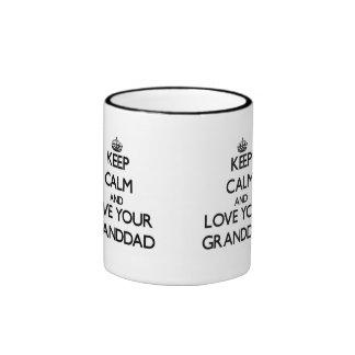 Keep Calm and Love your Granddad Mugs
