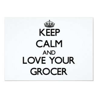 Keep Calm and Love your Grocer Personalized Announcement