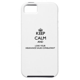 Keep Calm and Love your Insurance Sales Consultant iPhone 5 Case