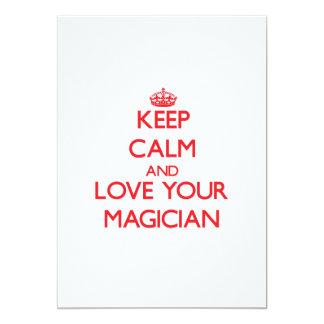 "Keep Calm and Love your Magician 5"" X 7"" Invitation Card"
