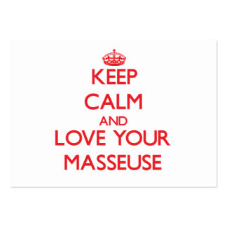 Keep Calm and Love your Masseuse Business Card Template