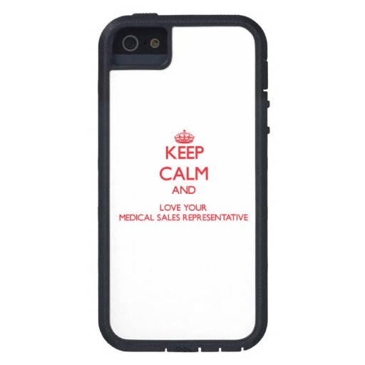 Keep Calm and Love your Medical Sales Representati iPhone 5/5S Case