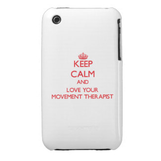 Keep Calm and Love your Movement Therapist iPhone 3 Case