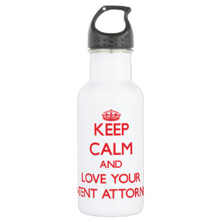 Keep Calm and Love your Patent Attorney 532 Ml Water Bottle
