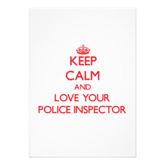 Keep Calm and Love your Police Inspector Invite