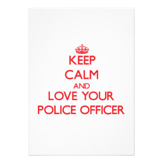 Keep Calm and Love your Police Officer Personalized Announcements