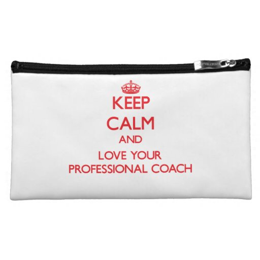 Keep Calm and Love your Professional Coach Cosmetic Bags