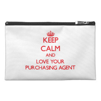 Keep Calm and Love your Purchasing Agent Travel Accessory Bags