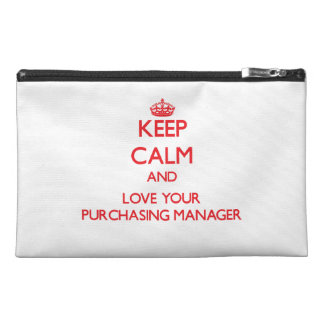 Keep Calm and Love your Purchasing Manager Travel Accessories Bags