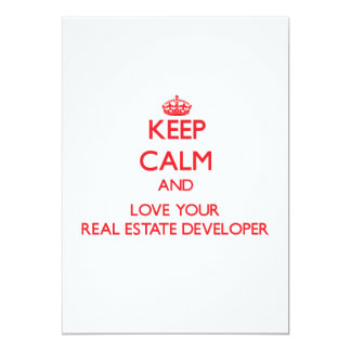 Keep Calm and Love your Real Estate Developer Announcement