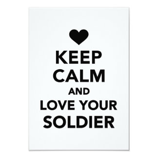 Keep calm and love your Soldier Custom Invite