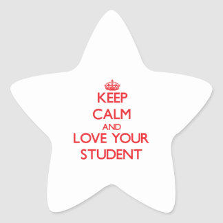 Keep Calm and Love your Student Star Stickers