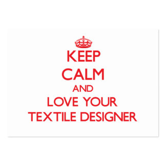 Keep Calm and Love your Textile Designer Business Card Templates