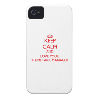 Keep Calm and Love your Theme Park Manager iPhone 4 Case-Mate Cases