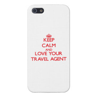 Keep Calm and Love your Travel Agent iPhone 5/5S Covers