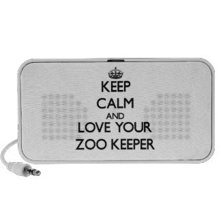 Keep Calm and Love your Zoo Keeper PC Speakers