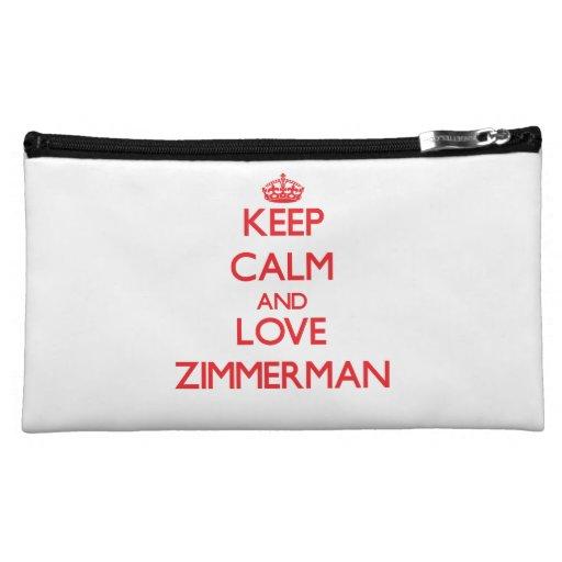 Keep calm and love Zimmerman Cosmetics Bags