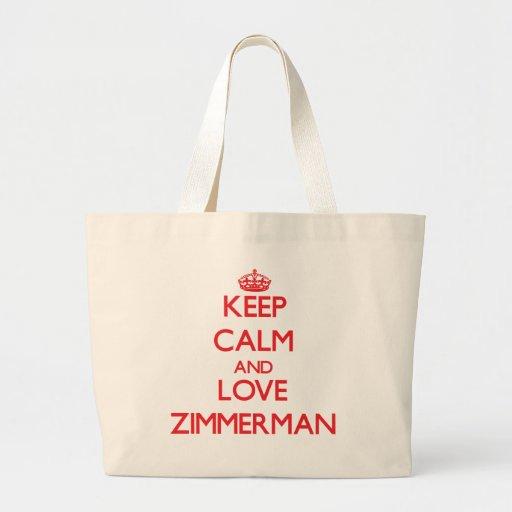 Keep calm and love Zimmerman Tote Bag
