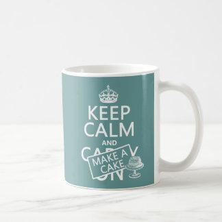 Keep Calm and Make A Cake (customize colors) Coffee Mug