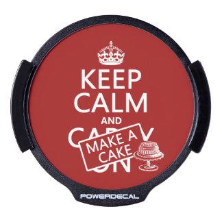 Keep Calm and Make A Cake LED Window Decal