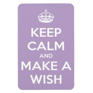 Keep Calm and Make A Wish Lavender Rectangle Rectangle Magnet
