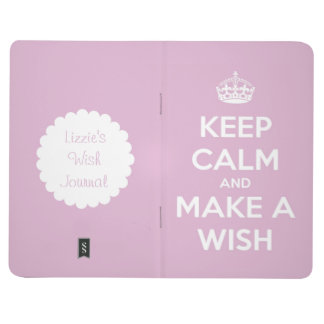 Keep Calm and Make a Wish Pink Personalised Journals