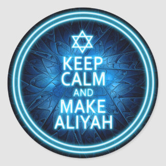 Keep Calm And Make Aliyah Classic Round Sticker