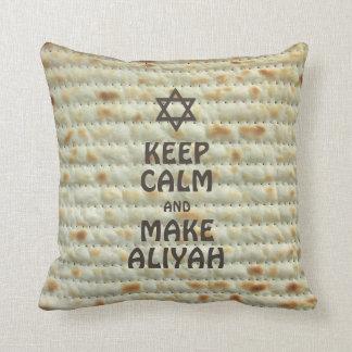 Keep Calm And Make Aliyah - Matzah Cushion