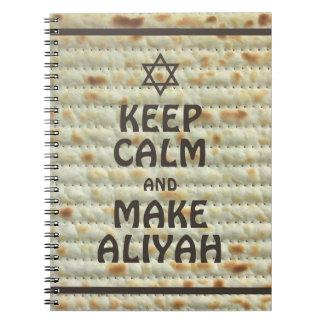 Keep Calm And Make Aliyah - Matzah Notebook