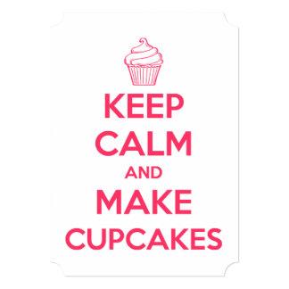 Keep calm and make cupcakes card