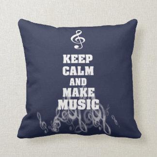 Keep Calm and Make Music Cushion