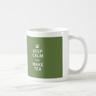 Keep Calm and Make Tea Tea Leaf Green Mug