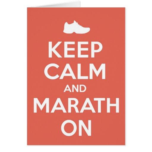 Keep Calm and Marathon Cards