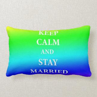 Keep Calm and married Lumbar Pillow 33 cm x 53 cm