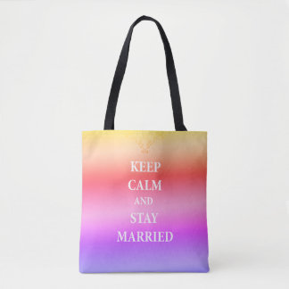 Keep calm and Married  Tote Bag