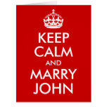 Keep Calm and Marry BLANK